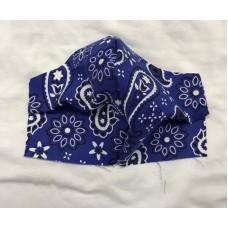 Blue Paisley Face Mask
